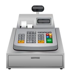cash machine icon realistic style vector image