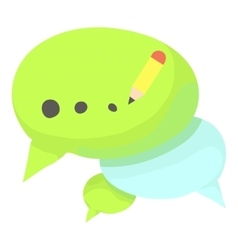 Chat icon cartoon style vector