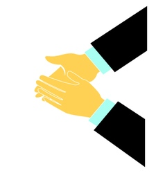 Clapping hands logo vector