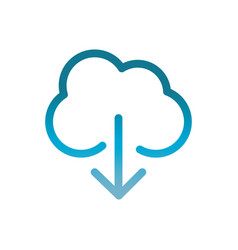 cloud computing download user interface blue vector image