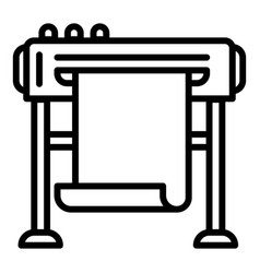 company plotter icon outline style vector image