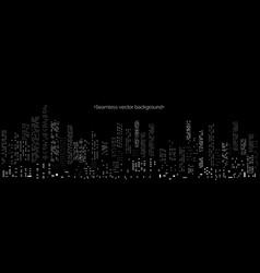 cyberpunk futuristic cityscape background vector image