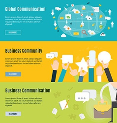 Element of business communication concept icon vector