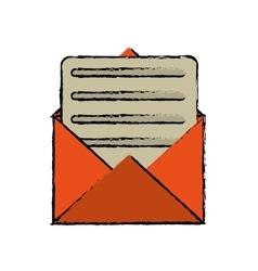 envelope paper letter email sketch vector image