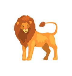 Formidable lion wild predatory animal vector