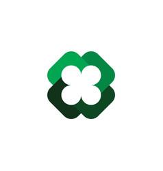 four leaf clover symbol logo element vector image