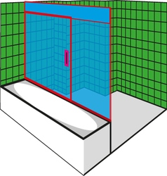 Green Bathroom vector
