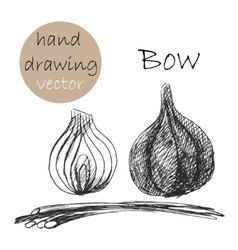 Hand drawn bow monochrome sketch vector