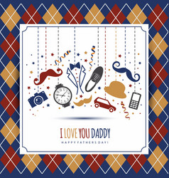 happy fathers day symbol of dad vector image