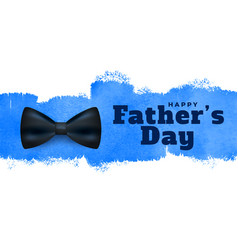 Happy fathers day watercolor style background vector