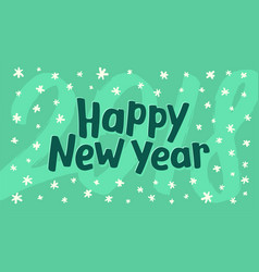 happy new year greeting card template vector image