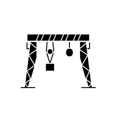 Harbour crane icon black vector