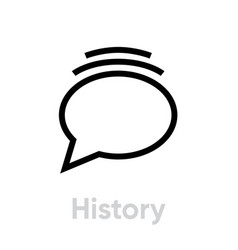 history message social icon editable line vector image