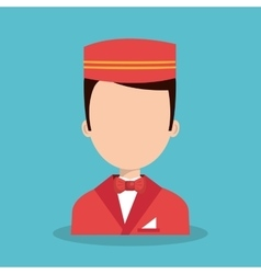 Hotel worker bellboys icon vector