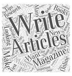 How to Make Money Writing Magazine Articles Word vector