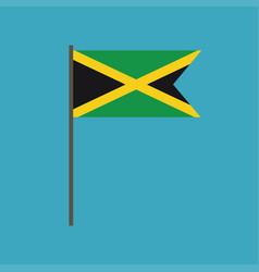 jamaica flag icon in flat design vector image