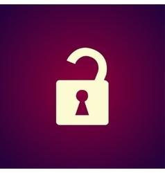 lock icon Flat design style vector image