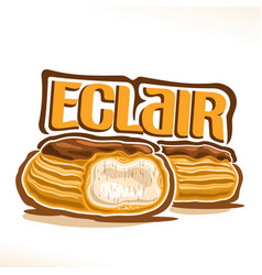 Logo for french eclair vector