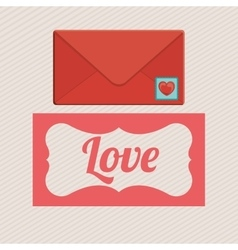 love letter design vector image