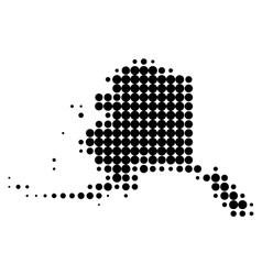 Map alaska vector