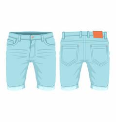 Mens light blue jeans vector