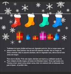 Merry christmas decorative card vector
