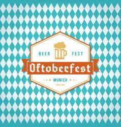 oktoberfest banner traditional bavarian print vector image