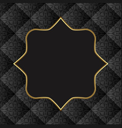 Old-fashioned background with golden frame vector