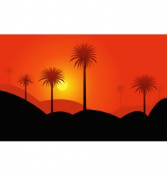 palms in desert vector image