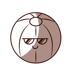 plastic balloon kawaii character vector image