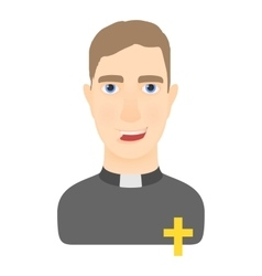 Priest icon cartoon style vector image