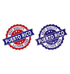 Puerto rico best quality stamp with distress style vector