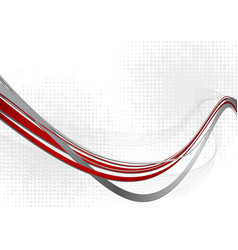 red and gray abstract wave background with copy vector image