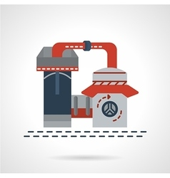 Refinery plant flat icon vector image