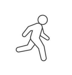 running person or runner line icon vector image