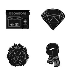 scarlet secondhand and or web icon in black style vector image