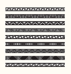 set of vintage borders lines vector image