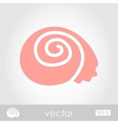 Shell icon vector