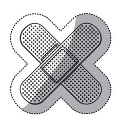 Silhouette bands aids icon vector