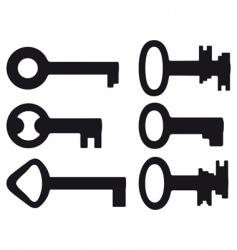 six small keys vector image