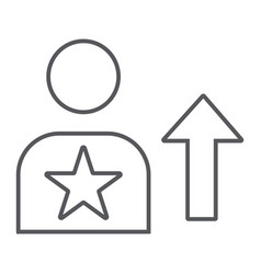 skill thin line icon employee and rating person vector image