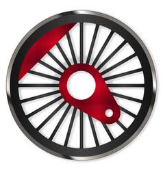Steam train wheel vector