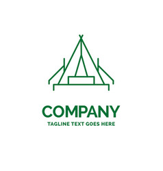 Tent camping camp campsite outdoor flat business vector