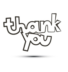 Thank You Title Isolated on White Background vector image
