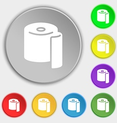 Toilet paper icon sign Symbol on eight flat vector