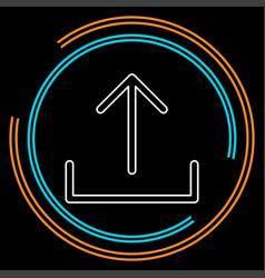 upload symbol - app up load button vector image