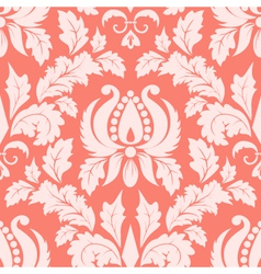 Vintage damask seamless salmon pattern vector