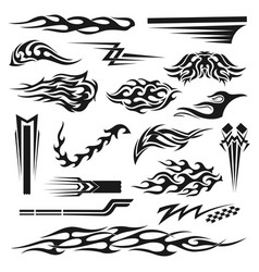 Vinyl decoration black graphic collection vector
