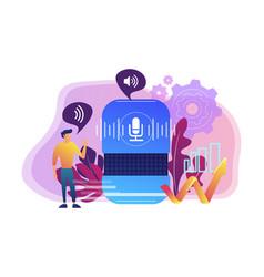 Voice control concept vector