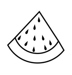 watermelon fruit food vector image